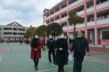 杨长燕到高酿镇小学指导新学期开学相关工作
